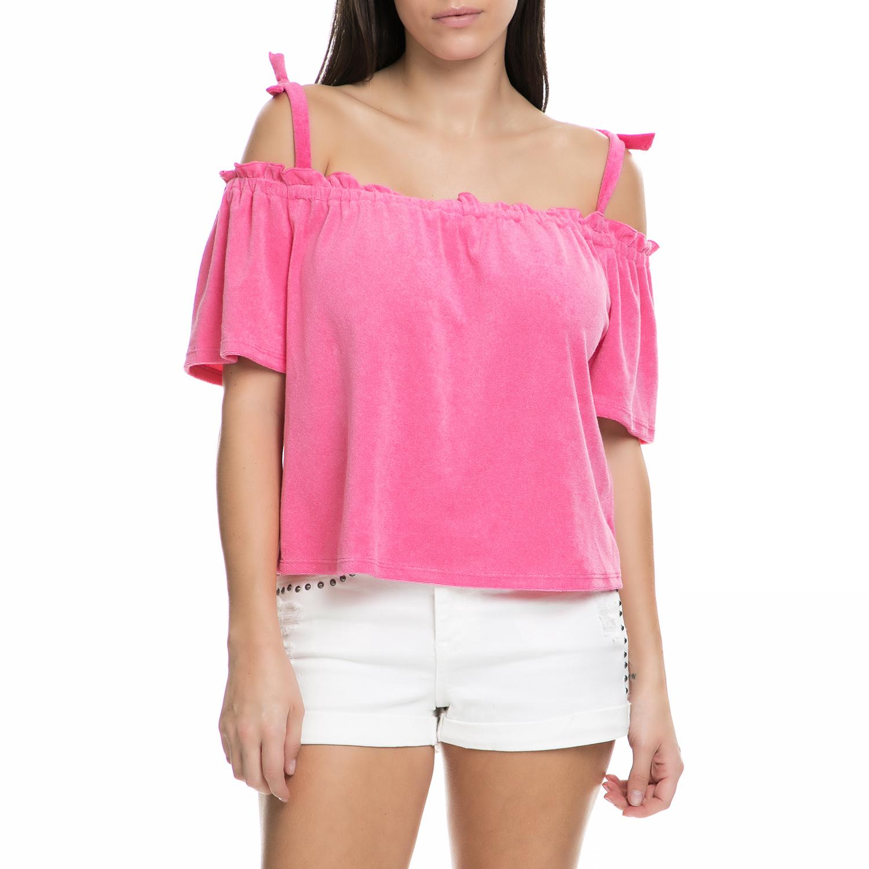 a75a46d0d3d JUICY COUTURE - Γυναικεία μπλούζα JUICY COUTURE φούξια ⋆ OaFashion.gr