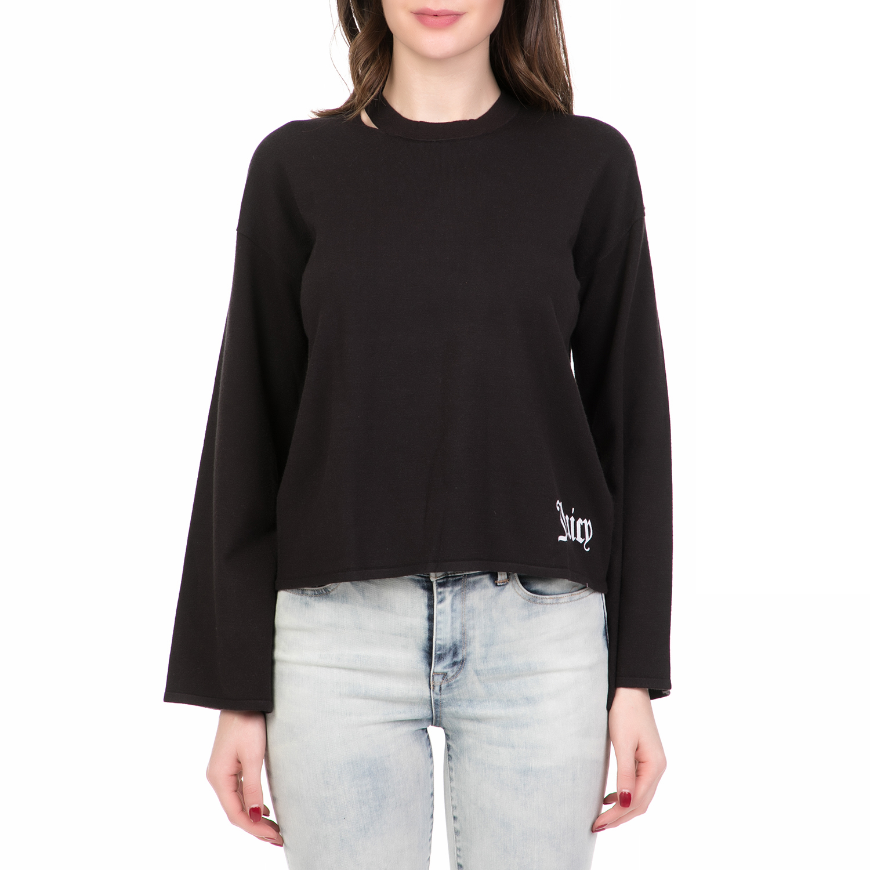 JUICY COUTURE - Γυναικείο πουλόβερ MINI GOTHIC JUICY COUTURE μαύρο