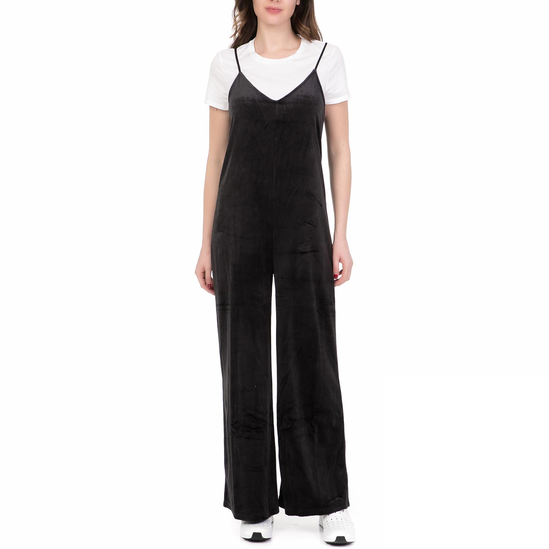 JUICY COUTURE - Γυναικεία ολόσωμη φόρμα JUICY COUTURE WIDE LEG CAMI μαύρη γυναικεία ρούχα ολόσωμες φόρμες