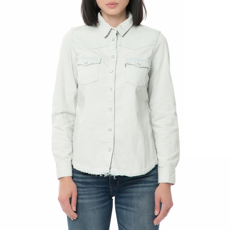 24dc4e999658 LEVI S – Γυναικείο τζιν πουκάμισο LEVI S MODERN WESTERN ανοιχτό γαλάζιο