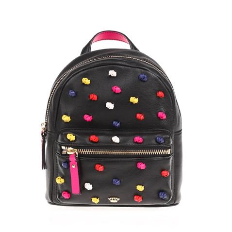 Γυναικεία δερμάτινη τσάντα πλάτης KNOTED MINI JUICY COUTURE μαύρη  (1590765.0-0071)  7664451a18b