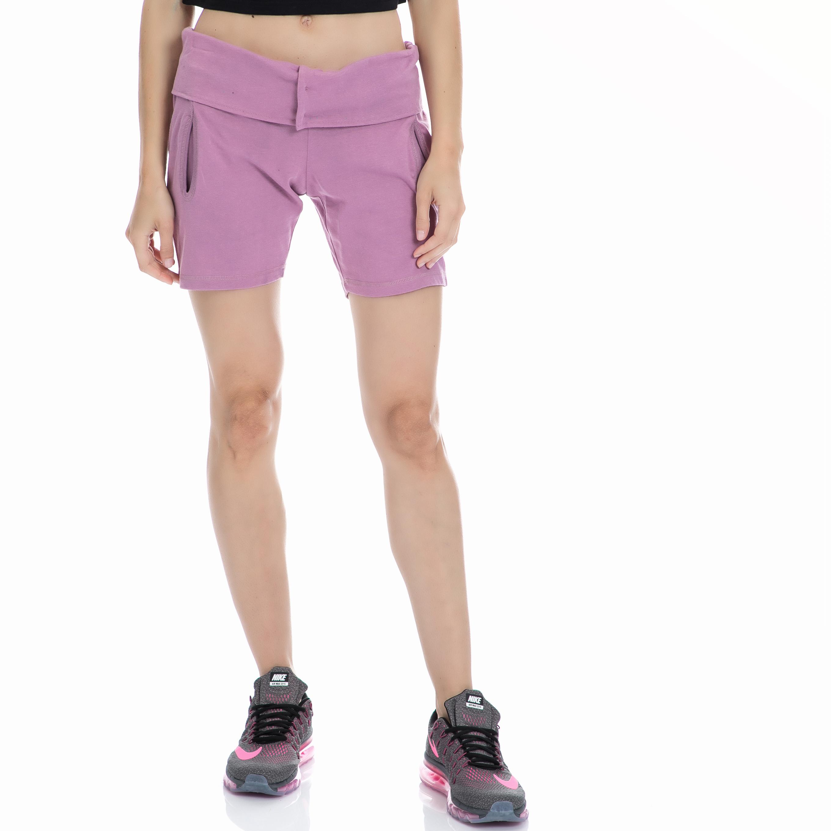 BODYTALK - Γυναικείο σορτς BODYTALK μοβ γυναικεία ρούχα σορτς βερμούδες αθλητικά