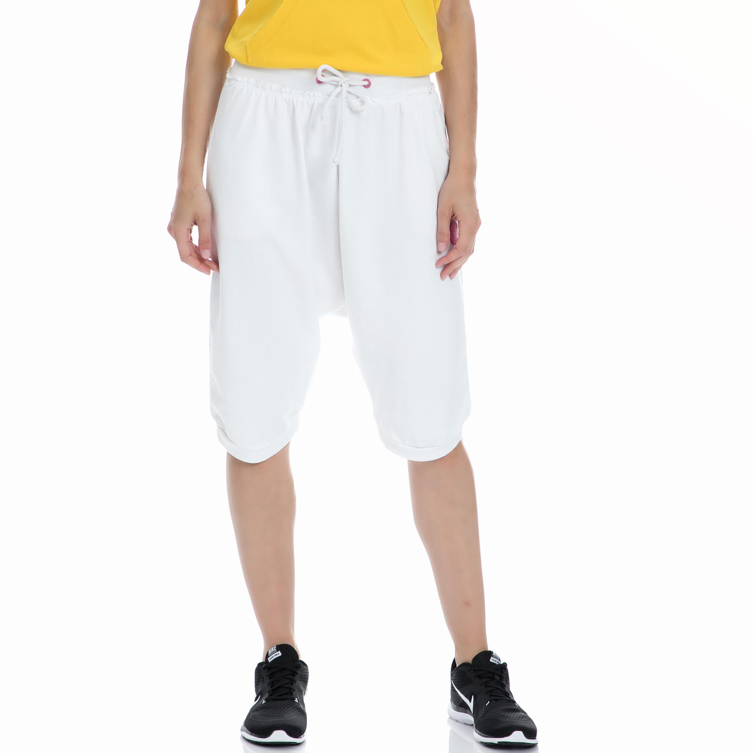 BODYTALK - Γυναικεία βερμούδα BODYTALK άσπρη γυναικεία ρούχα σορτς βερμούδες αθλητικά