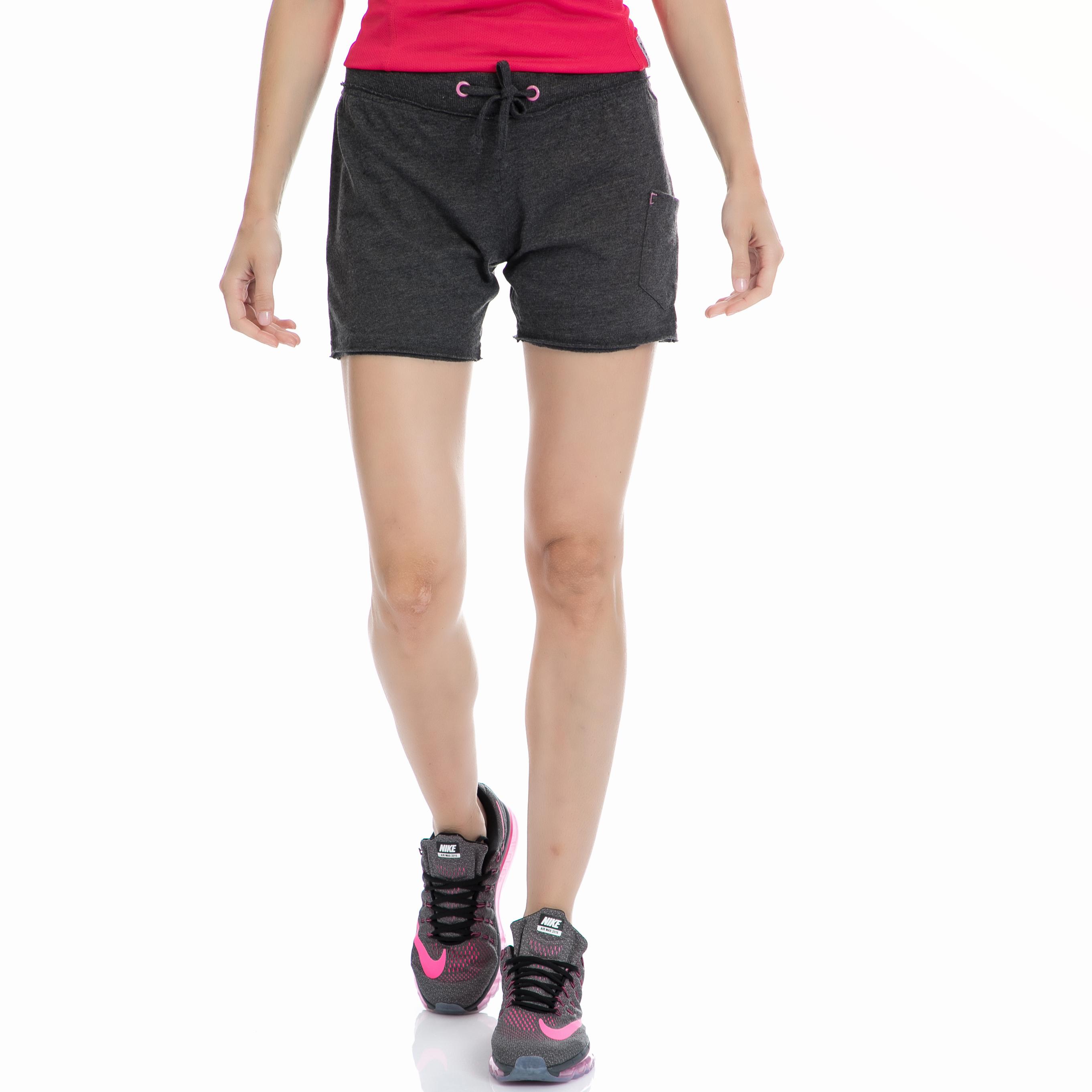 BODYTALK - Γυαναικείο σορτς BODYTALK μαύρο-γκρι γυναικεία ρούχα σορτς βερμούδες αθλητικά