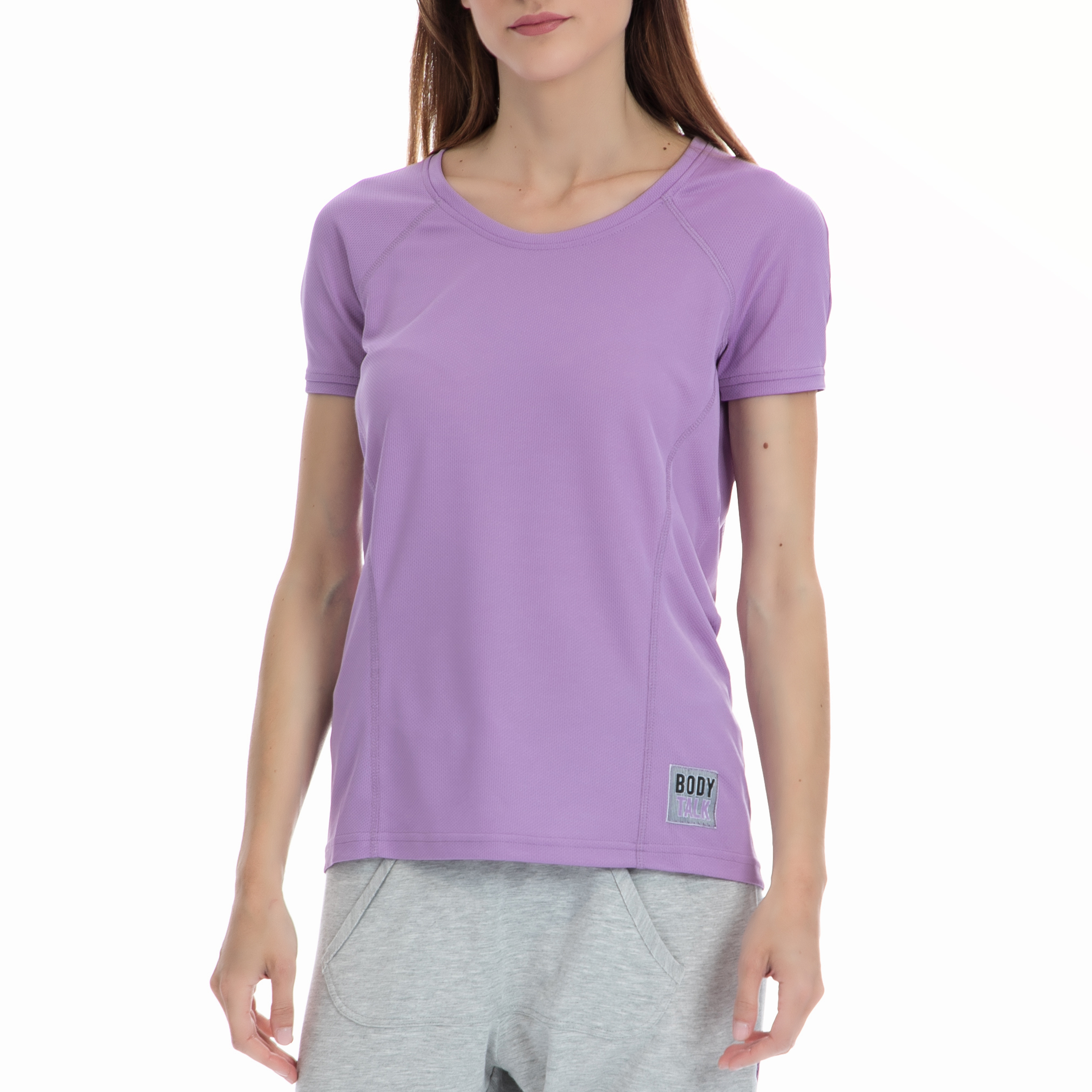 BODYTALK - Γυναικεία μπλούζα BODYTALK μωβ γυναικεία ρούχα αθλητικά t shirt τοπ
