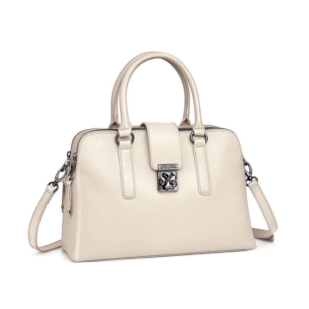 FOLLI FOLLIE - Γυναικεί τσάντα FOLLI FOLLIE λευκή γυναικεία αξεσουάρ τσάντες σακίδια χειρός