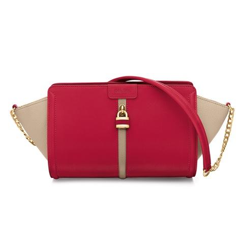 FOLLI FOLLIE-Γυναικεία τσάντα FOLLI FOLLIE κόκκινη