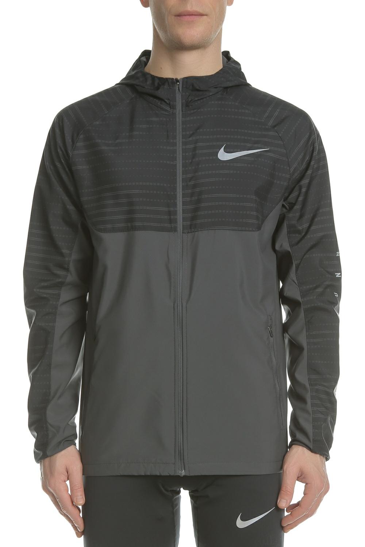 13e1ad7d2b8 NIKE – Ανδρικό μπουφάν Nike Essential Hooded Running γκρι