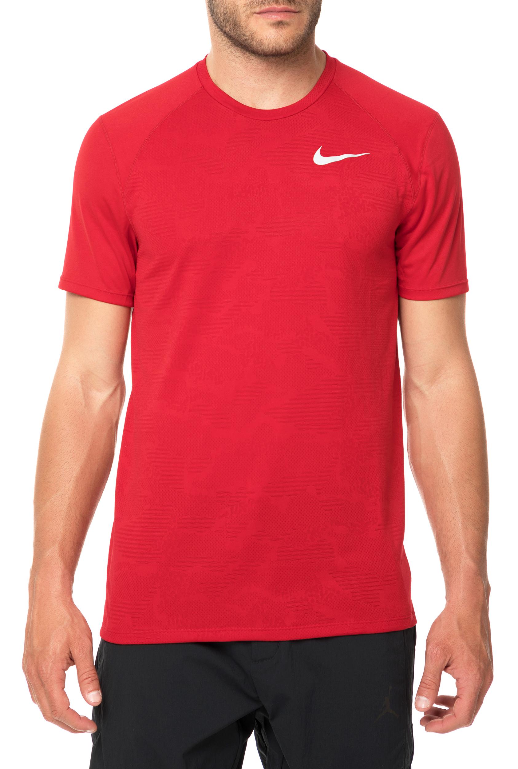 b25ab1964955 NIKE - Ανδρική κοντομάνικη μπλούζα NIKE BREATHE MILER κόκκινη