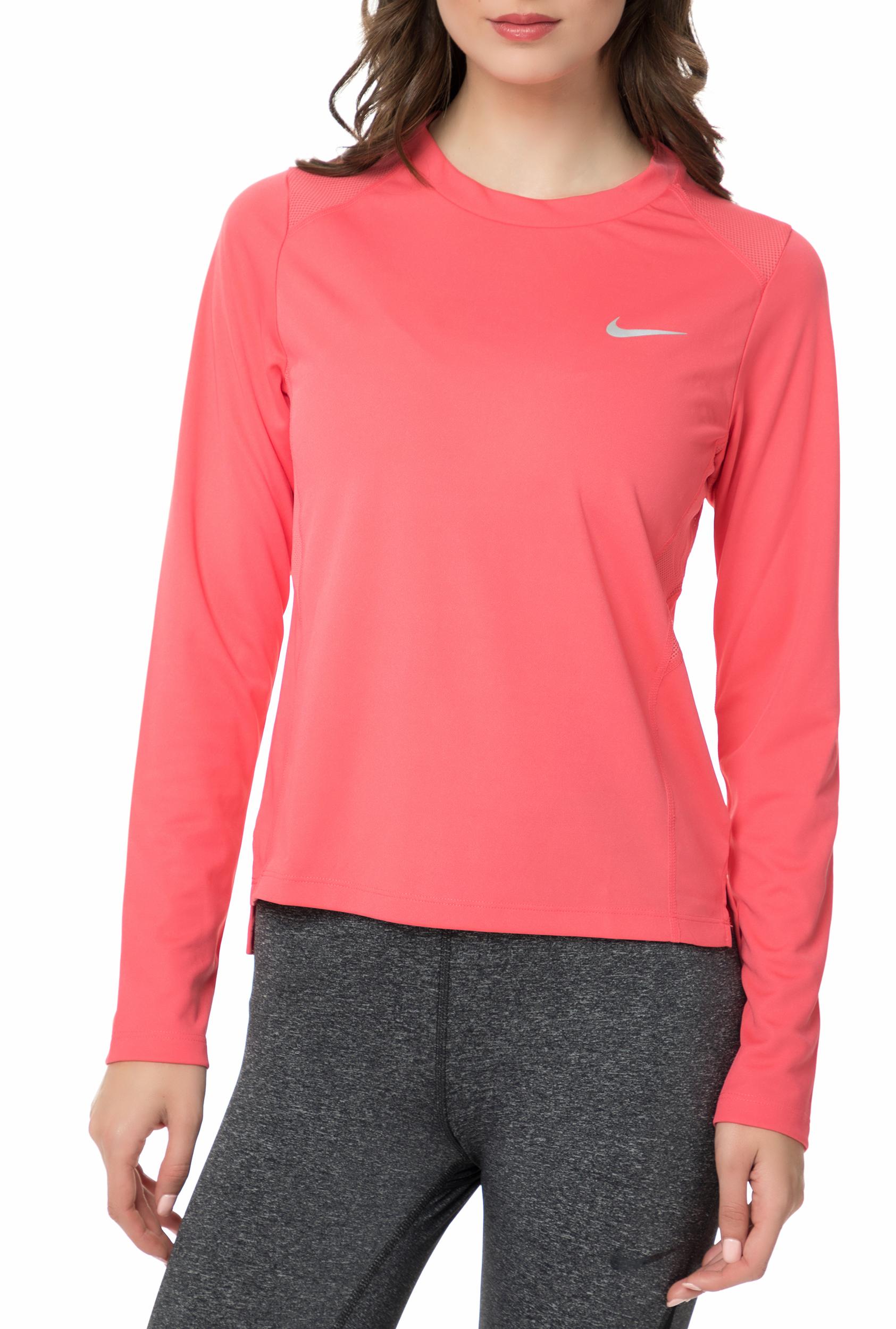 NIKE - Γυναικεία μακρυμάνικη μπλούζα NIKE MILER TOP LS ροζ 14087198e00