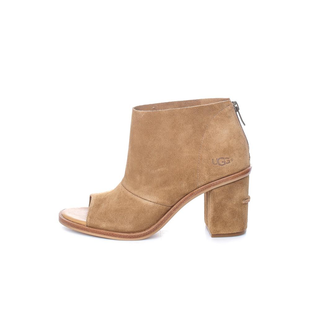 UGG – Γυναικεία peep toe μποτάκια UGG GINGER καφέ