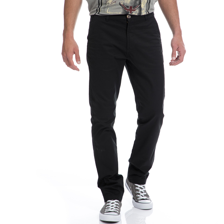 BATTERY - Ανδρικό παντελόνι Battery μαύρο ανδρικά ρούχα παντελόνια chinos