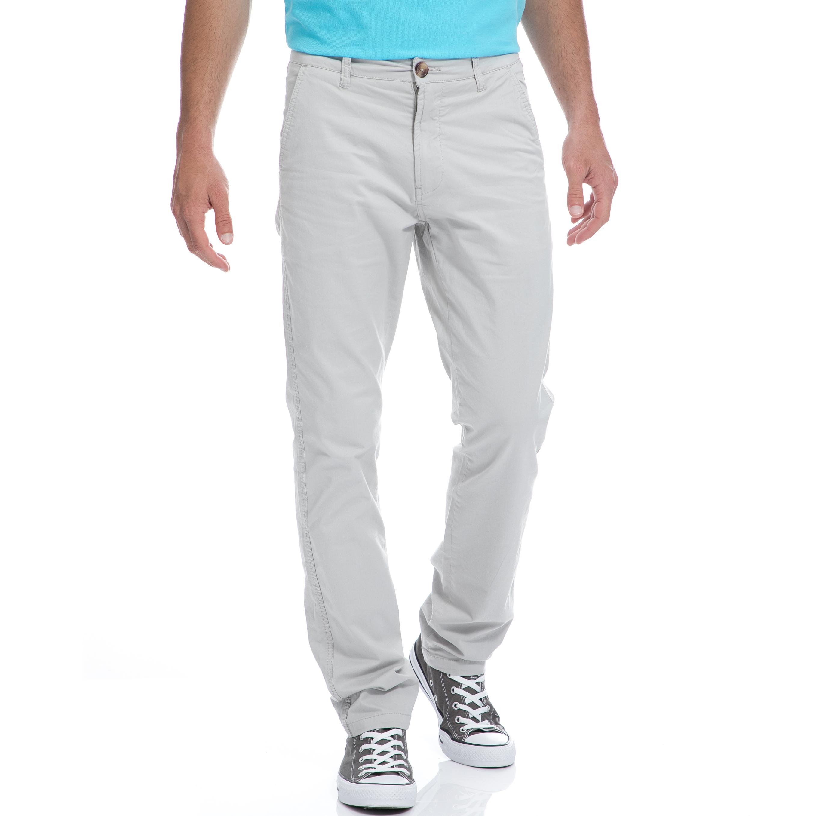BATTERY - Ανδρικό παντελόνι Battery γκρι ανδρικά ρούχα παντελόνια chinos