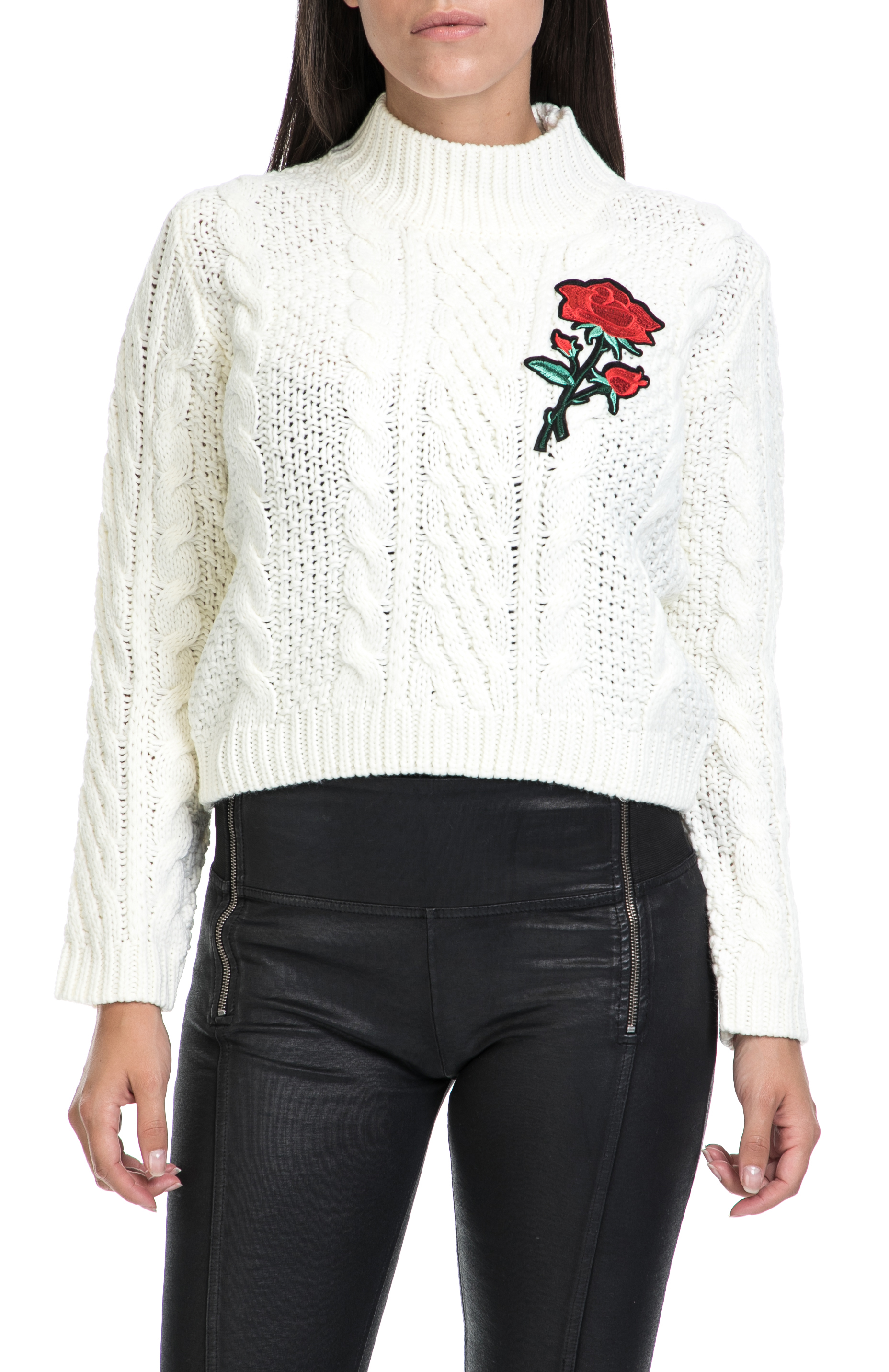 2df48a104a19 MOLLY BRACKEN – Γυναικείο πουλόβερ MOLLY BRACKEN λευκό – Online Ρούχα