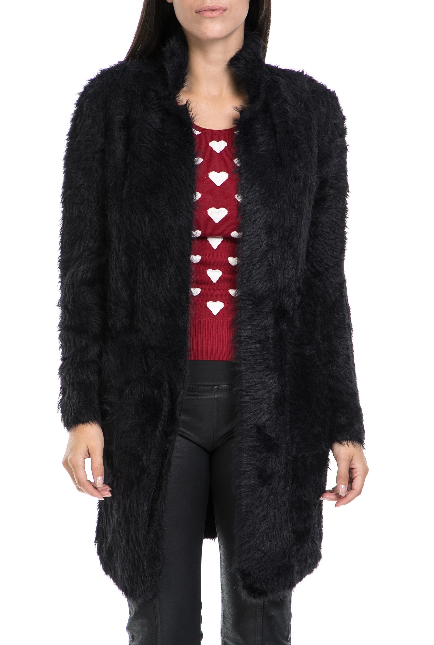 MOLLY BRACKEN - Γυναικεία ζακέτα MOLLY BRACKEN μαύρη γυναικεία ρούχα πλεκτά ζακέτες ζακέτες