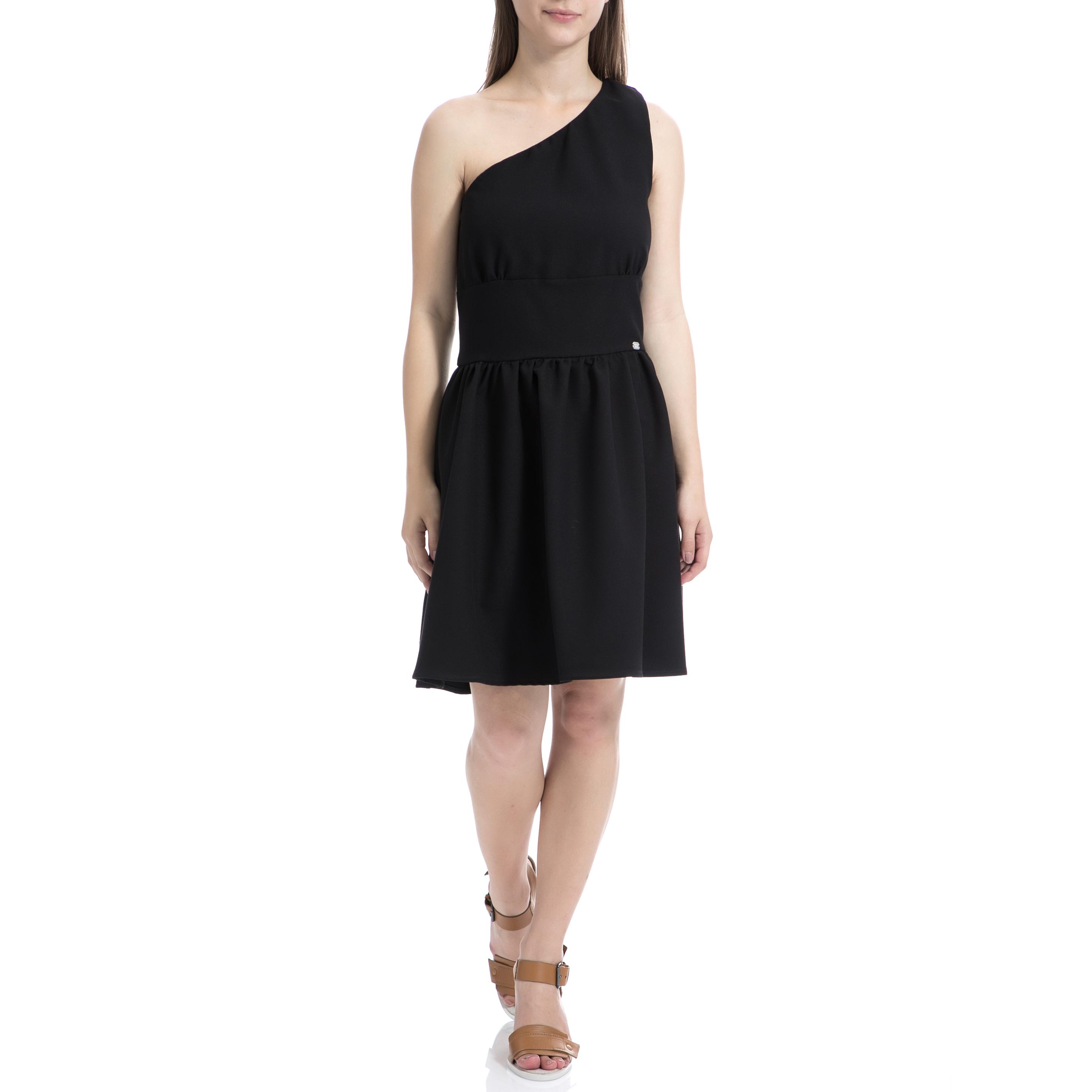 DENNY ROSE - Γυναικείο φόρεμα Denny Rose μαύρο γυναικεία ρούχα φορέματα μίνι
