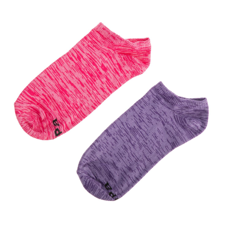 GSA - Σετ γυναικείες κάλτσες GSA TRAINER 2 PACK JEPA ροζ-μοβ γυναικεία αξεσουάρ κάλτσες