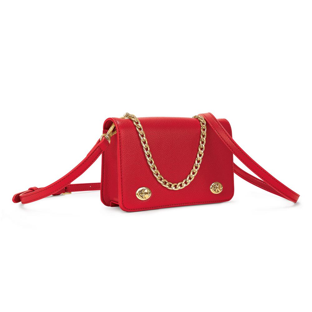 aa384b7ccd FOLLI FOLLIE - Γυναικεία τσάντα χιαστί FOLLI FOLLIE κόκκινη