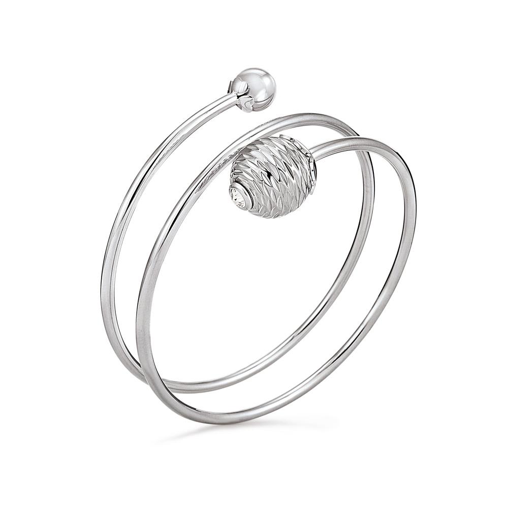 FOLLI FOLLIE - Γυναικείο σταθερό σπιράλ βραχιόλι FOLLI FOLLIE Style Pops ασημί γυναικεία αξεσουάρ κοσμήματα βραχιόλια