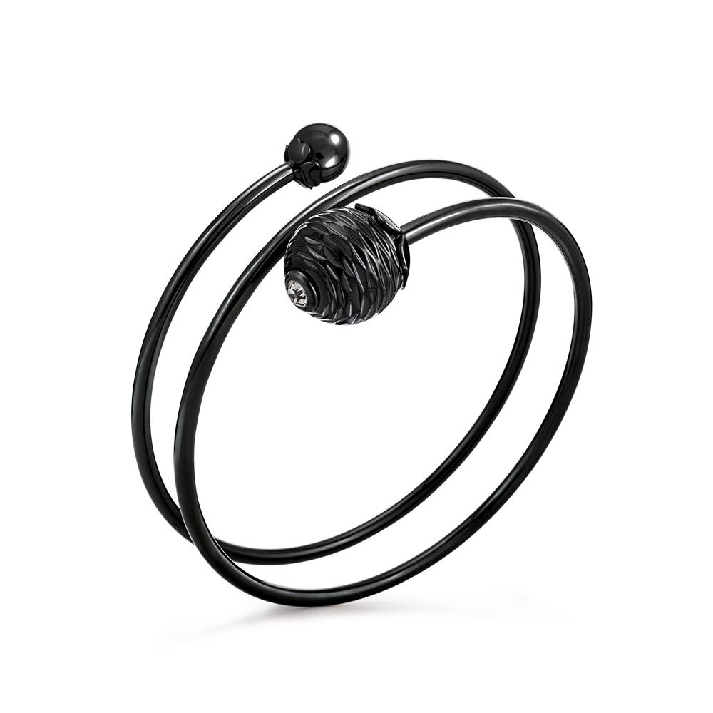 FOLLI FOLLIE - Γυναικείο σταθερό σπιράλ βραχιόλι FOLLI FOLLIE Style Pops μαύρο γυναικεία αξεσουάρ κοσμήματα βραχιόλια