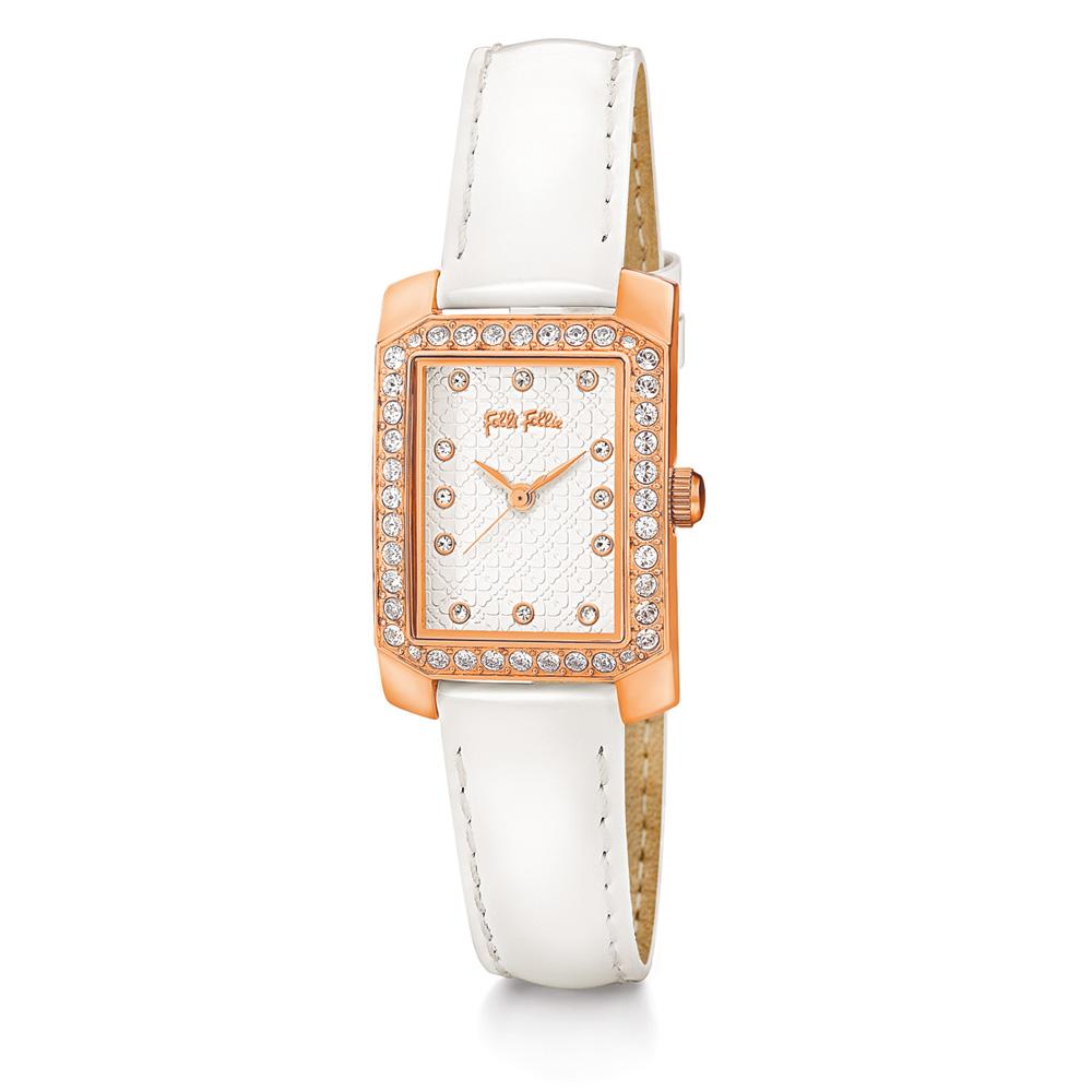 FOLLI FOLLIE - Γυναικείο ρολόι με δερμάτινο λουράκι FOLLI FO...