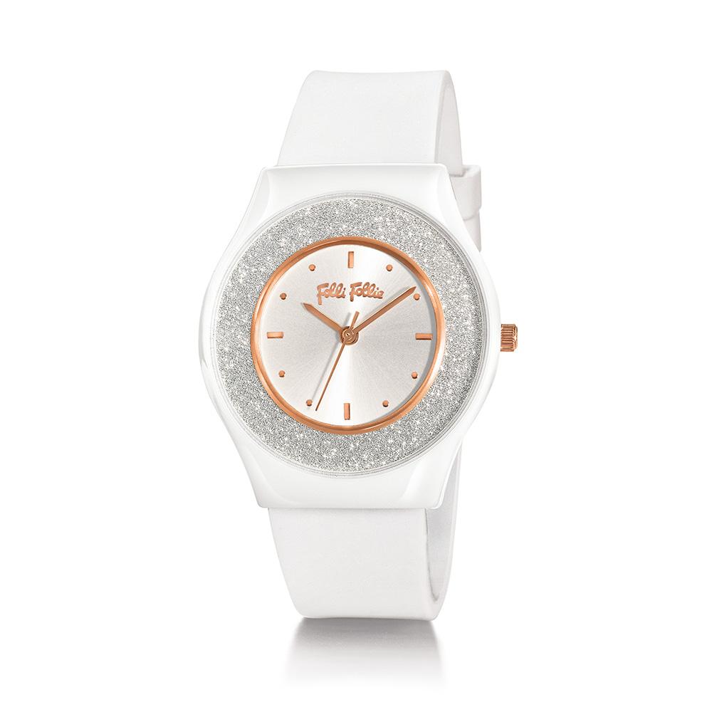 FOLLI FOLLIE - Γυναικείο ρολόι με λουράκι από καουτσούκ FOLL...