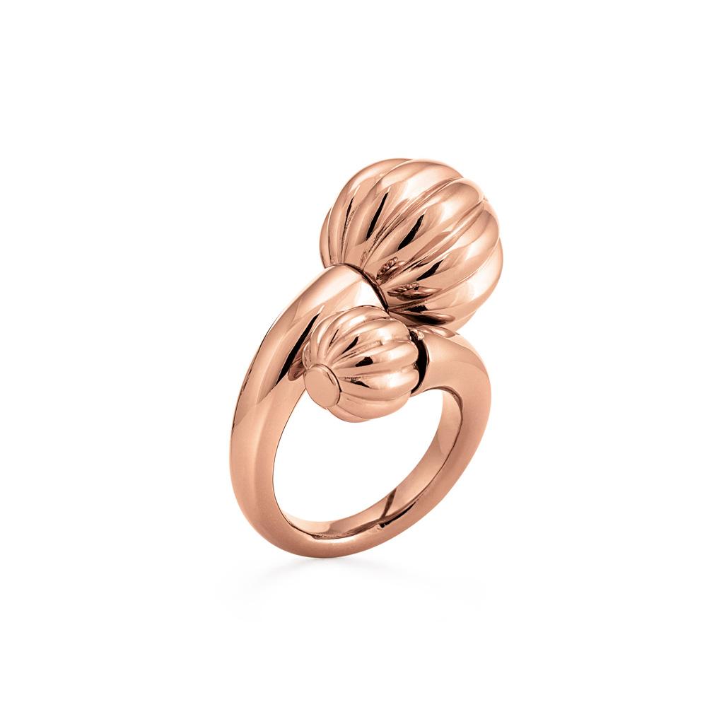 FOLLI FOLLIE - Γυναικείο δαχτυλίδι FOLLI FOLLIE ροζ-χρυσό