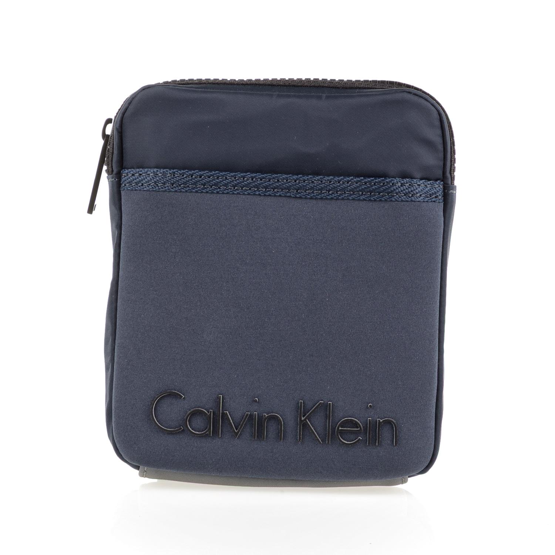 CALVIN KLEIN JEANS - Ανδρικό τσαντάκι χιαστί ALEC MINI FLAT CROSS μπλε ανδρικά αξεσουάρ τσάντες σακίδια ωμου