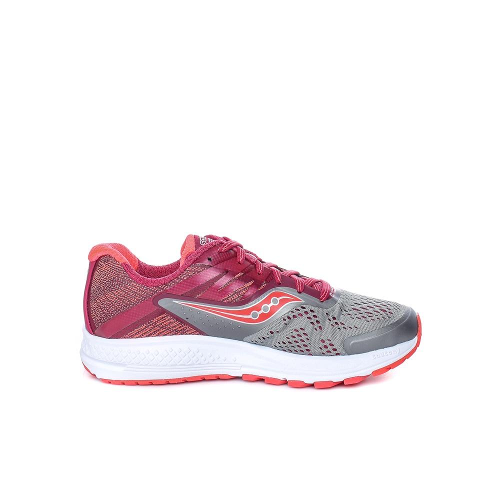 SAUCONY – Γυναικεία παπούτσια για τρέξιμο RIDE 10 κόκκινο – γκρι