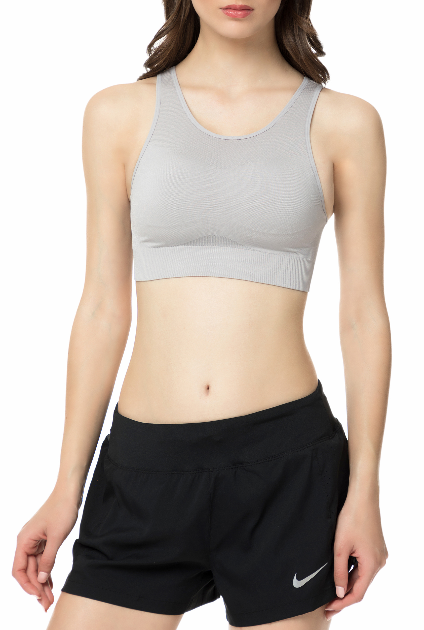 NIKE - Γυναικείο αθλητικό μπουστάκι NIKE SEAMLESS BRALETTE γκρι