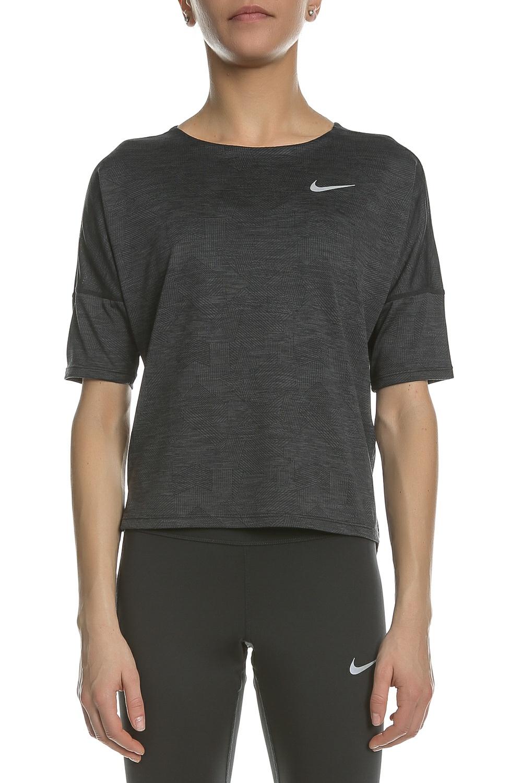 NIKE - Γυναικεία κοντομάνικη μπλούζα NIKE ανθρακί 85a2fc01dfe