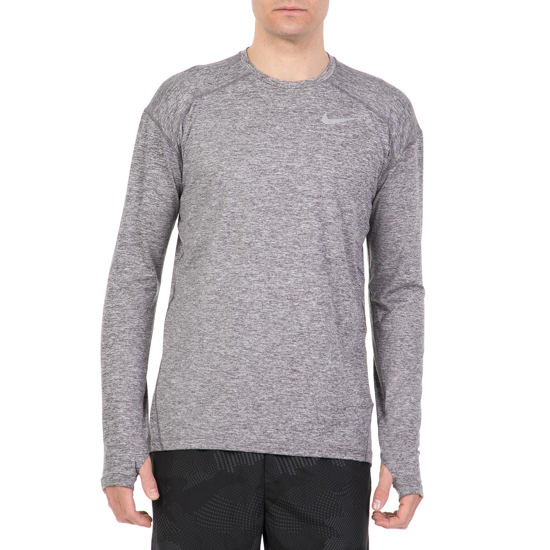 c2030be4cd3c NIKE - Ανδρική μακρυμάνικη μπλούζα για τρέξιμο NIKE DRY ELMNT γκρι