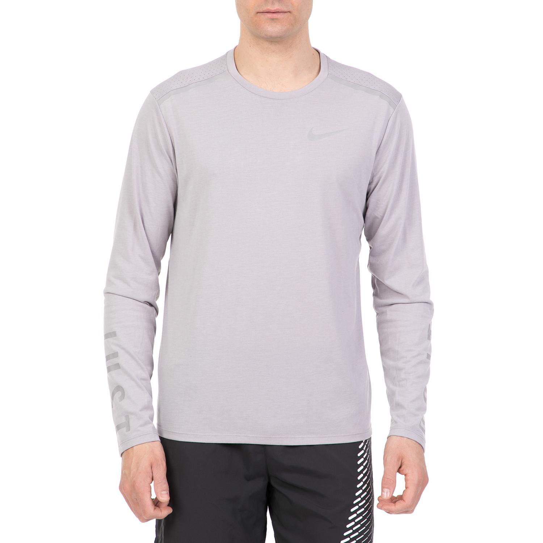 4f484d2a1f53 NIKE - Ανδρική μακρυμάνικη μπλούζα NIKE BRTHE TAILWIND γκρι