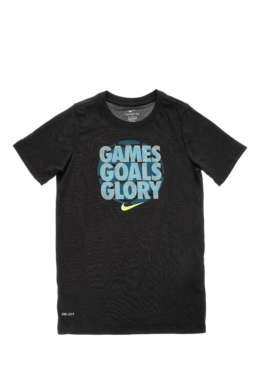 37ea2e7989b6 NIKE - Αγορίστικη κοντομάνικη μπλούζα NIKE DRY TEE GAMES,GOALS,GLORY μαύρη