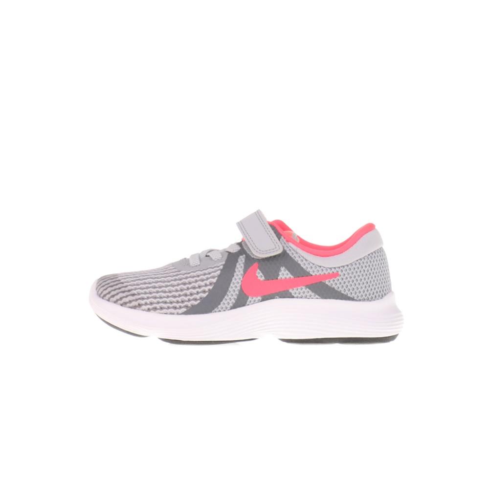 NIKE – Παιδικά αθλητικά παπούτσια NIKE REVOLUTION 4 (PSV) γκρι ροζ