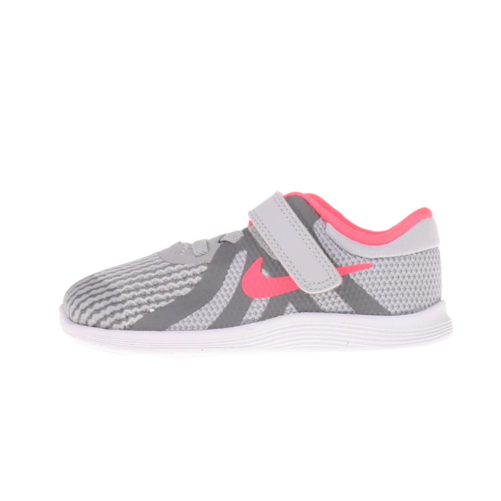 NIKE – Παιδικά αθλητικά παπούτσια NIKE REVOLUTION 4 (DTV) γκρι ροζ