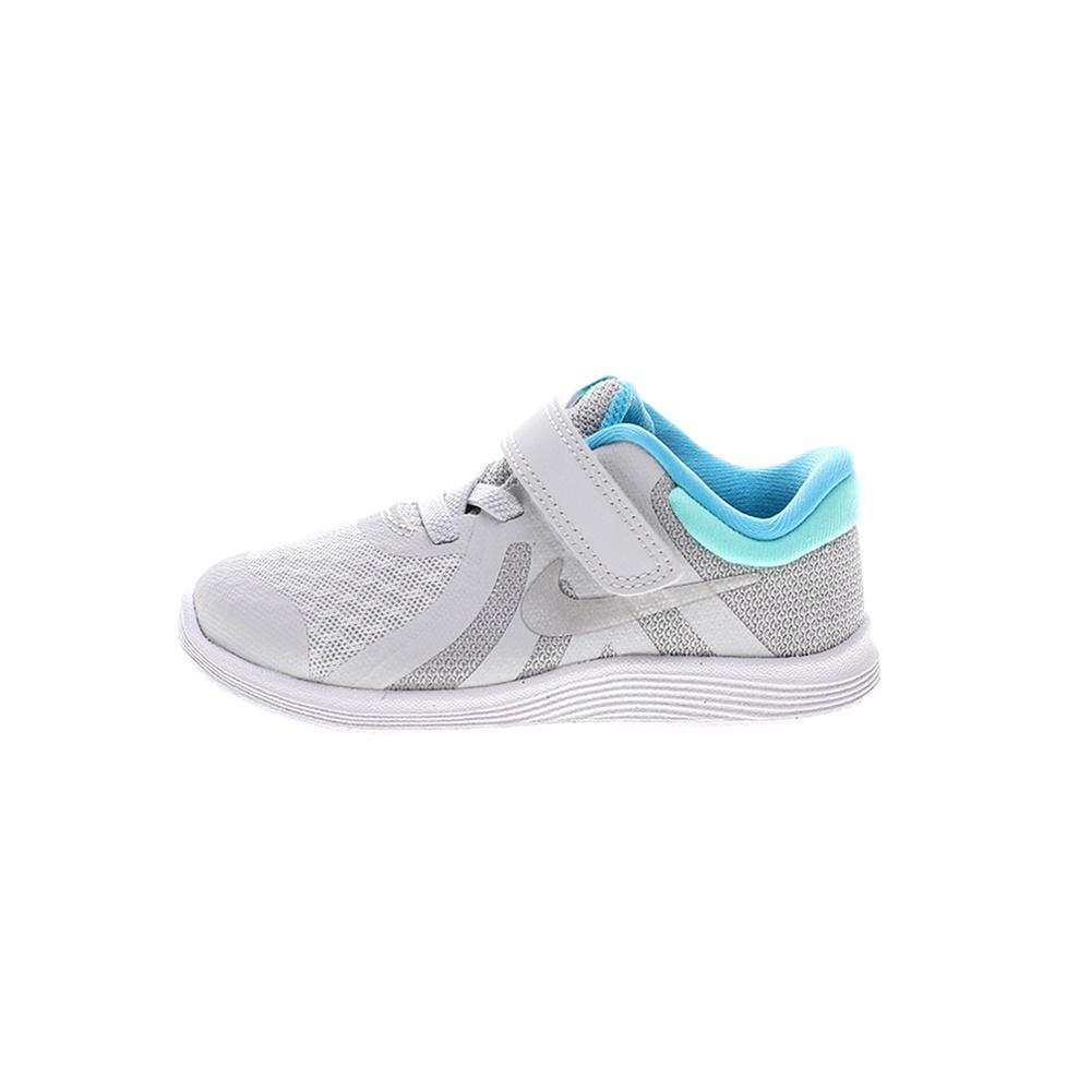 NIKE – Βρεφικά παπούτσια NIKE REVOLUTION 4 (TDV) ασημί μπλε