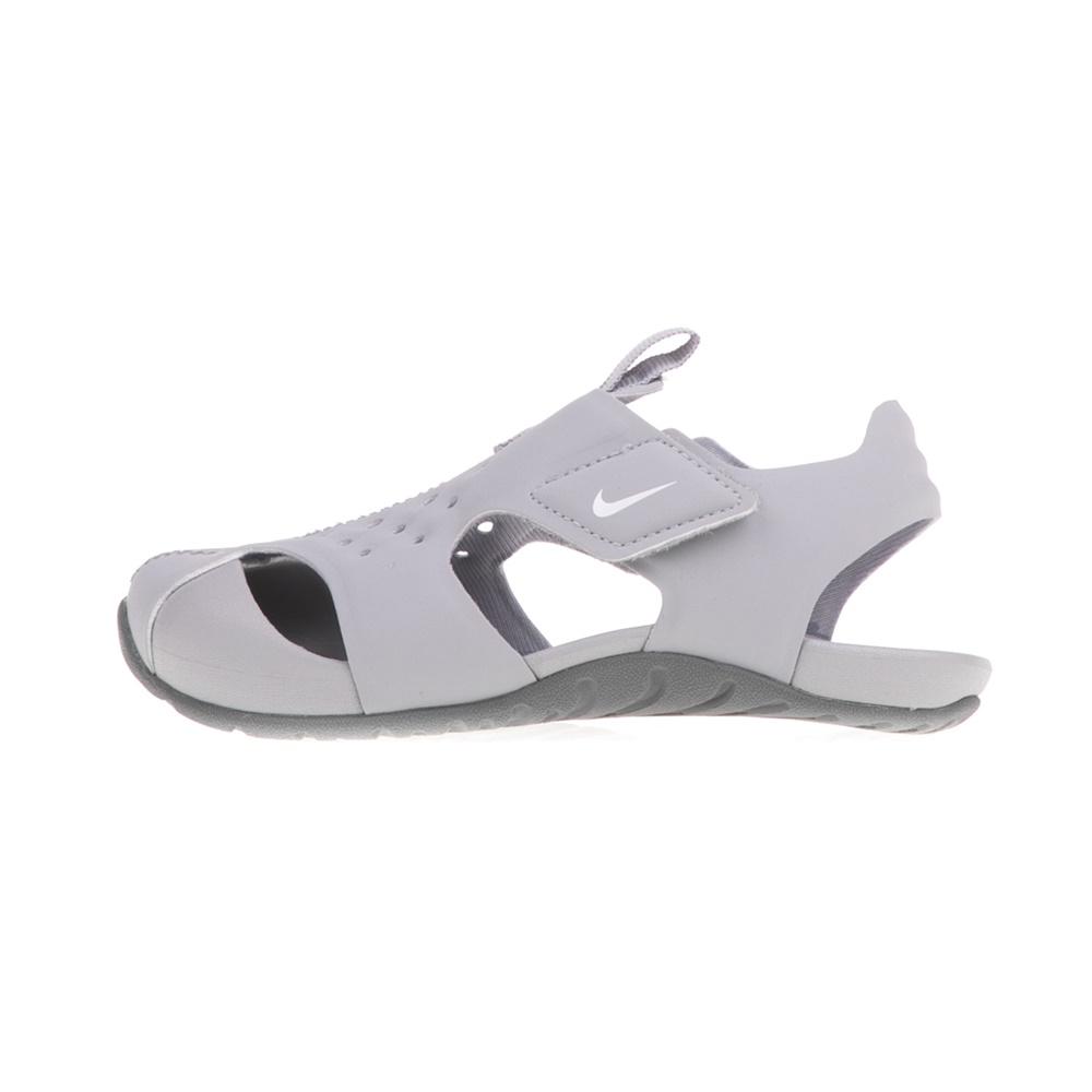 NIKE - Βρεφικά σανδάλια NIKE SUNRAY PROTECT 2 (TD) γκρι παιδικά baby παπούτσια πέδιλα σανδάλια