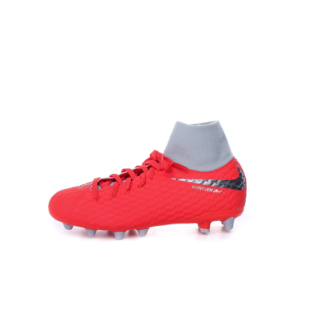 NIKE - Παιδικά παπούτσια ποδοσφαίρου JR PHANTOM 3 ACADEMY DF AG-PRO κόκκινα-γκρι παιδικά boys παπούτσια αθλητικά