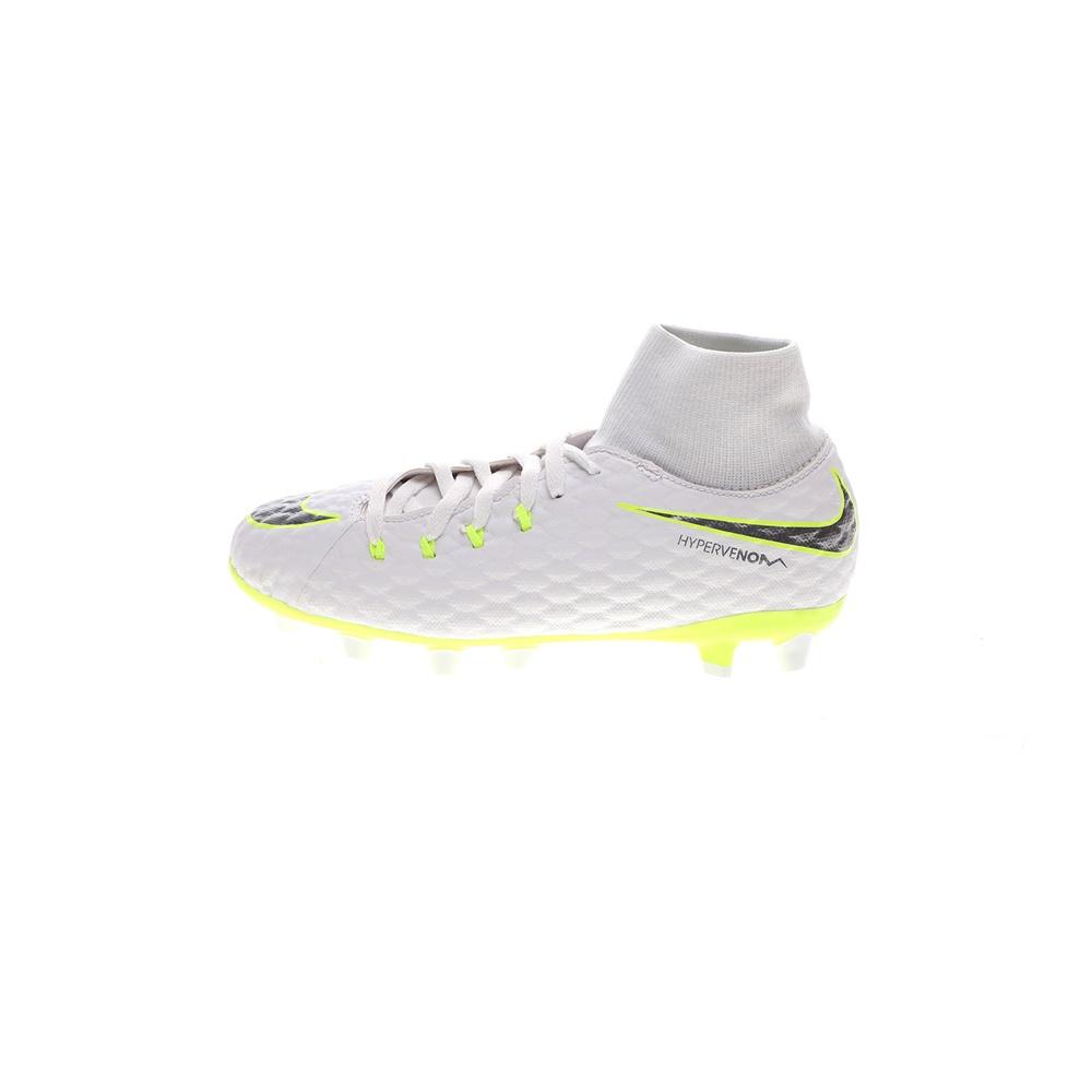 NIKE – Παιδικά ποδοσφαιρικά παπούτσια NIke HYPERVENOM 3 ACAD DF AG-PRO λευκά