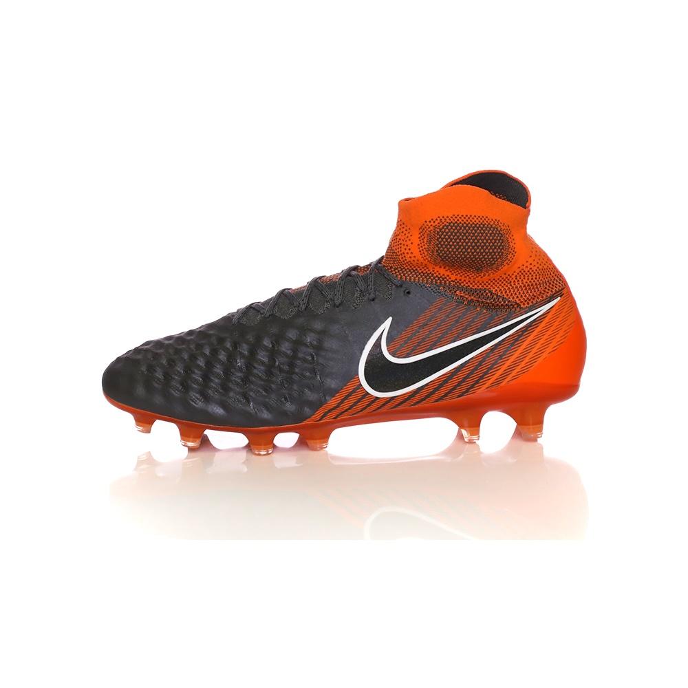 NIKE – Ανδρικά παπούτσια ποδοσφαίρου OBRA 2 ELITE DF FG ανθρακί-πορτοκαλί