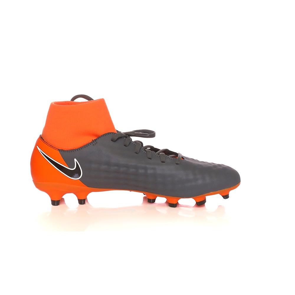 NIKE – Ανδρικά ποδοσφαιρικά παπούτσια OBRA 2 ACADEMY DF FG ανθρακί-πορτοκαλί