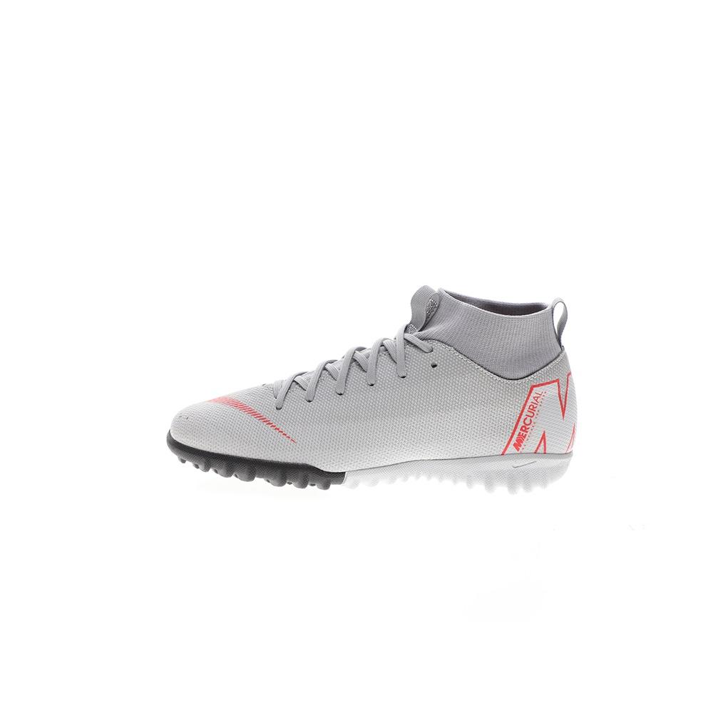 NIKE – Παιδικά παπούτσια ποδοσφαίρου Nike Jr. SuperflyX 6 Academy TF γκρι κόκκινα