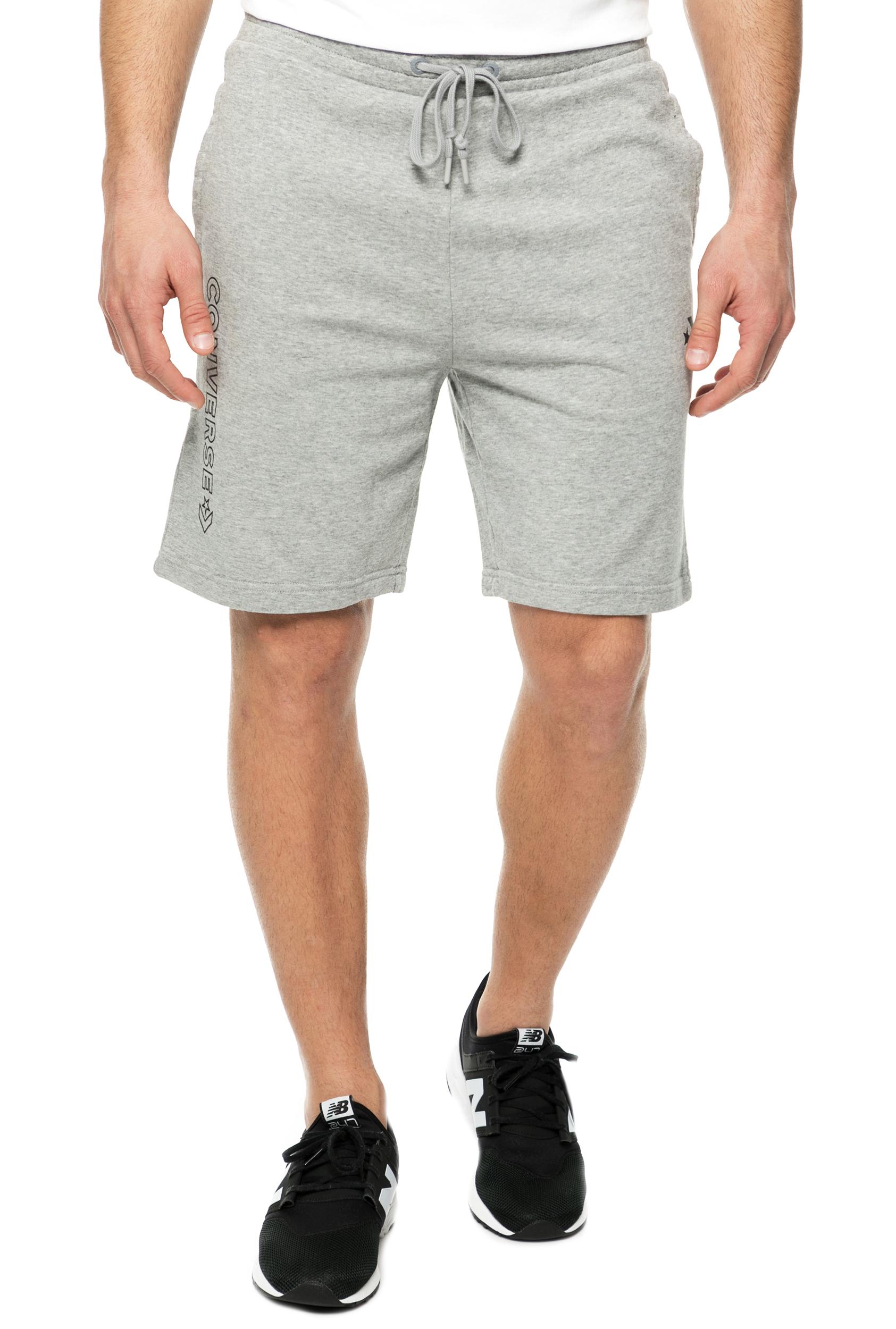 CONVERSE - Ανδρική βερμούδα CONVERSE ESSENTIALS γκρι ανδρικά ρούχα σορτς βερμούδες casual jean