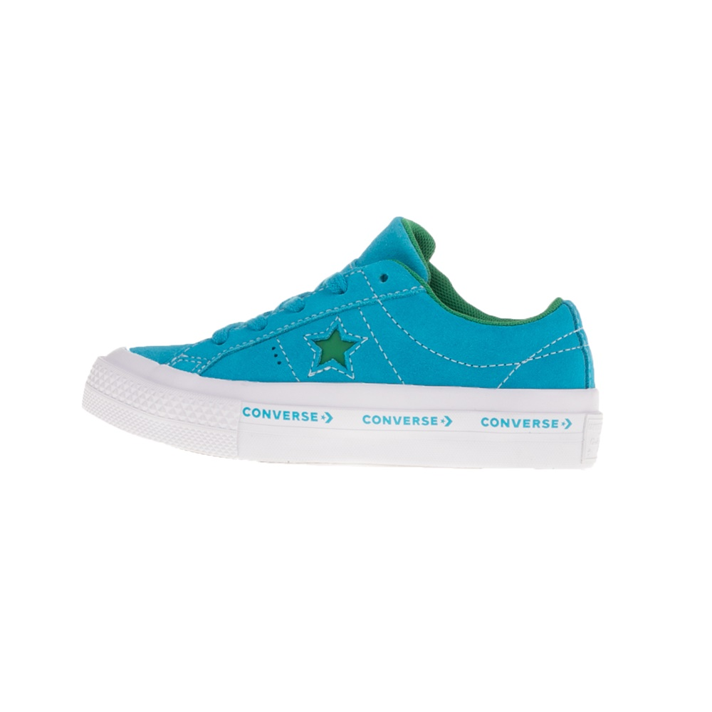 CONVERSE – Παιδικά παπούτσια CONVERSE ONE STAR 3V OX γαλάζια