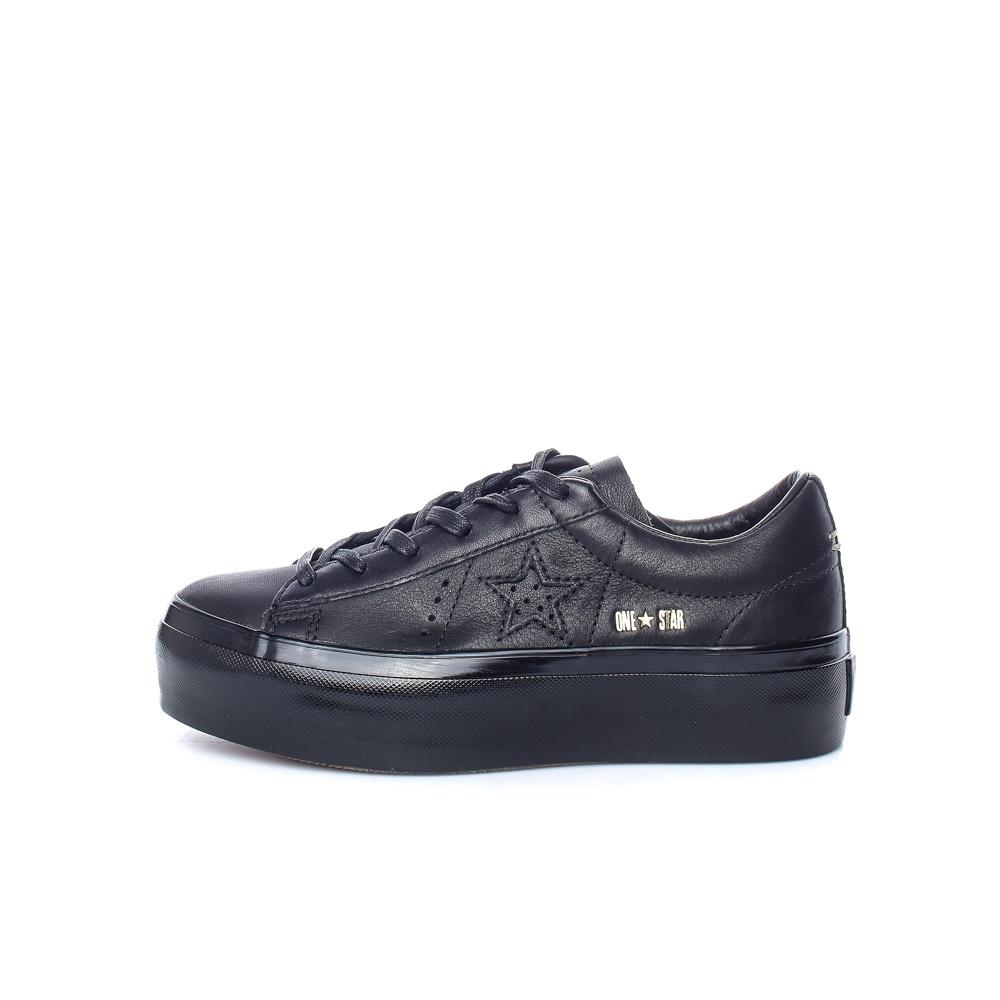 CONVERSE – Γυναικεία παπούτσια One Star Platform Ox μαύρα