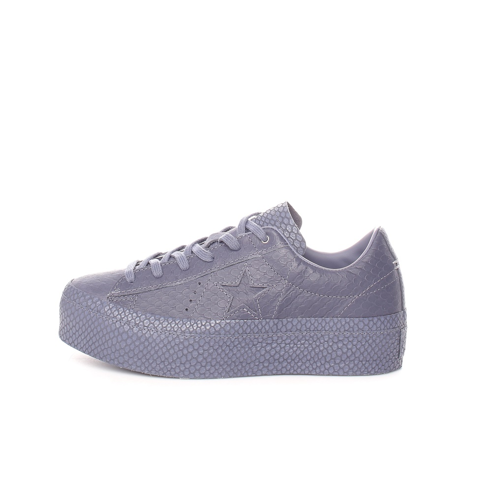 CONVERSE – Γυναικεία sneakers Converse One Star Platform Ox μοβ-γκρι