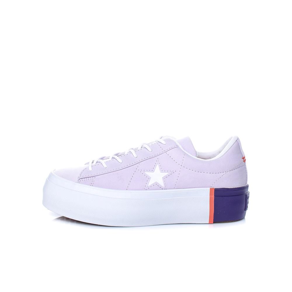CONVERSE – Γυναικεία παπούτσια One Star Platform Ox λιλά