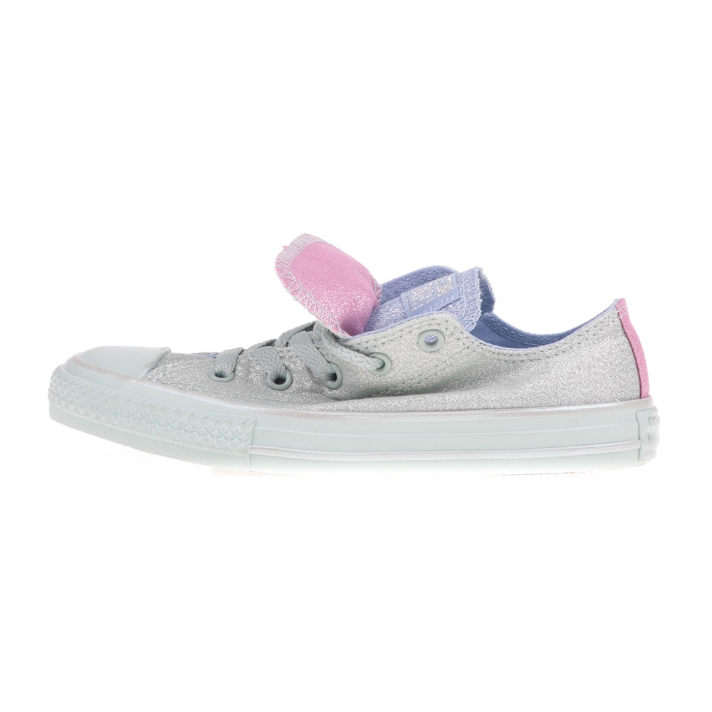 CONVERSE – Παιδικά sneakers CONVERSE Chuck Taylor All Star Double ασημί-μοβ