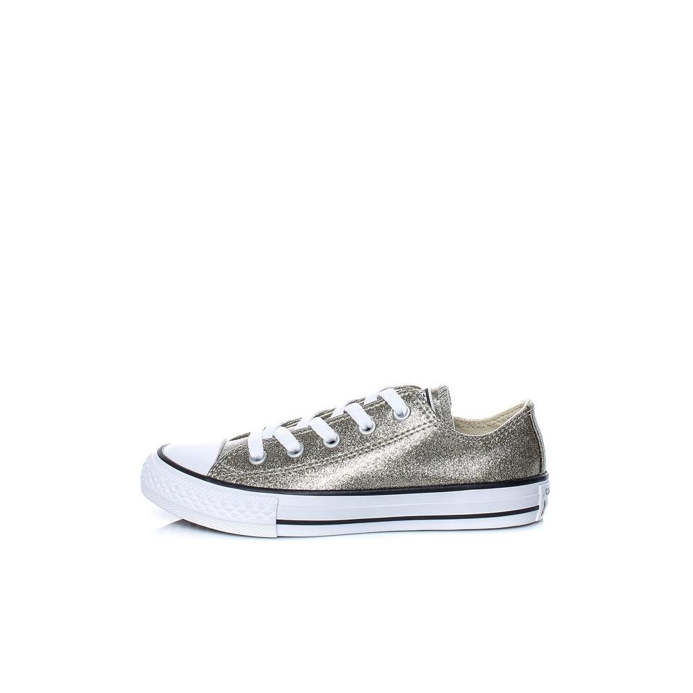 CONVERSE – Παιδικά παπούτσια Chuck Taylor All Star Ox ασημί-χρυσά